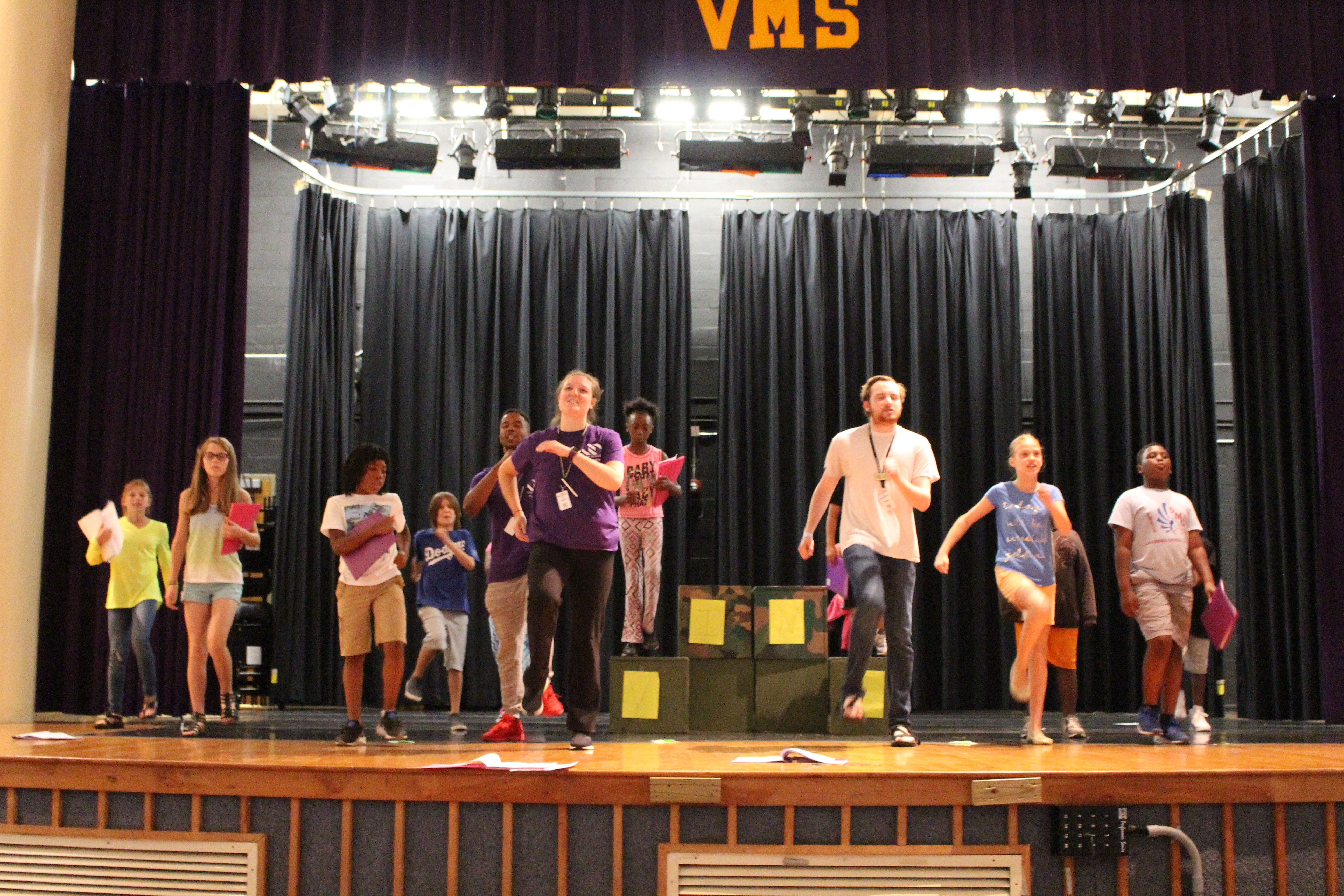 Shakespeare in Shades camp at Vine Middle