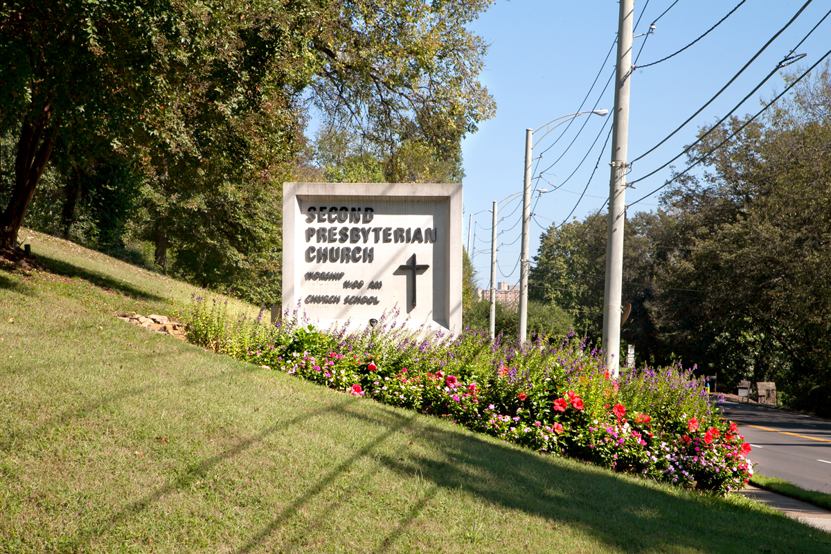 Second Presbyterian sign