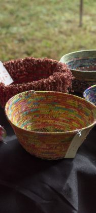 Handmade baskets for purchase at the Apple Festival