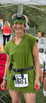 Kris Corbitt wore a fun costume for the King and Queen of Darkness Trail Race.