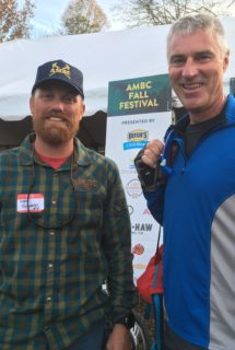 AMBC president Wes Soward discusses Fall Fest with Brent Ogle of Sevierville.