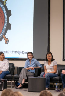 Engineer Spokeswomen inspiring many young women at Y-12's Introduce a Girl to Engineering 2019: Sheryl Houston, Tiffany Malone, Amanda Bachmann, Ann Shih, Karen Houge, Noe Laney