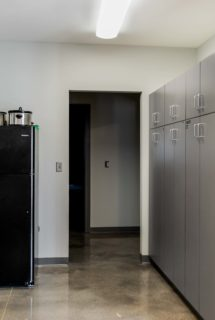 A refrigerator and pantry for each shift