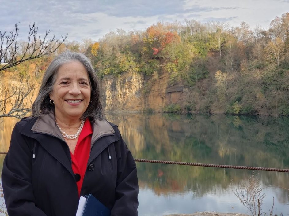 Mayor Madeline Rogero at the Augusta Quarry Lake after the ribbon cutting (Photos by Betsy Pickle except where noted)